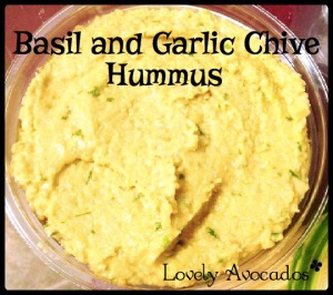Basil and Garlic Chive Hummus | *Lovely Avocados*
