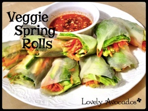 Veggie Spring Rolls with Dipping Sauce | *Lovely Avocados*