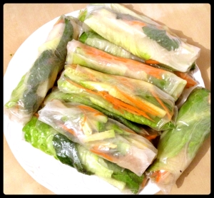 Veggie Spring Rolls from *Lovely Avocados*