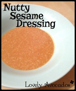 Nutty Sesame Dressing | *Lovely Avocados*