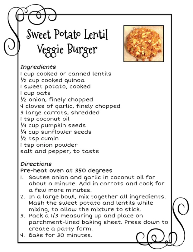 Sweet Potato Lentil Veggie Burger Recipe | *Lovely Avocados*