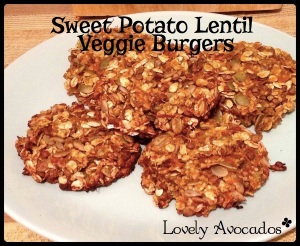 Sweet Potato Lentil Veggie Burgers | *Lovely Avocados*